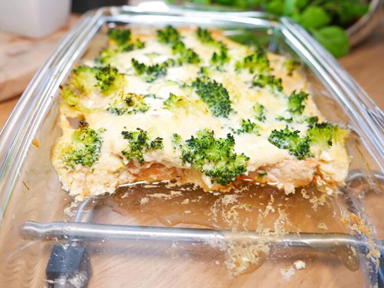 Kurczak zapiekany z brokułem