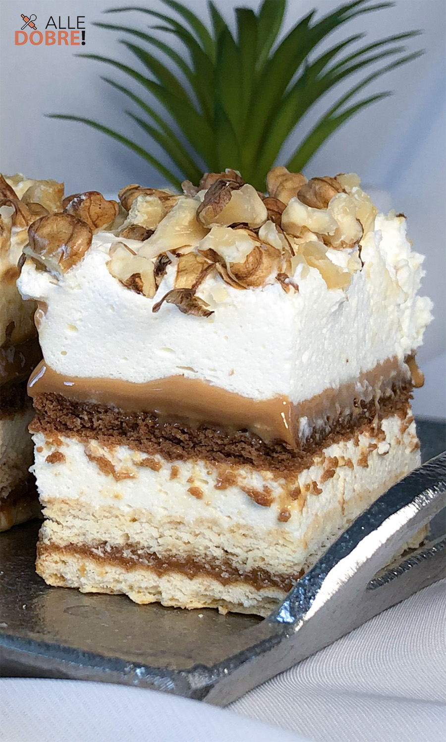 ciasto orzechowa dama bez pieczenia przepis