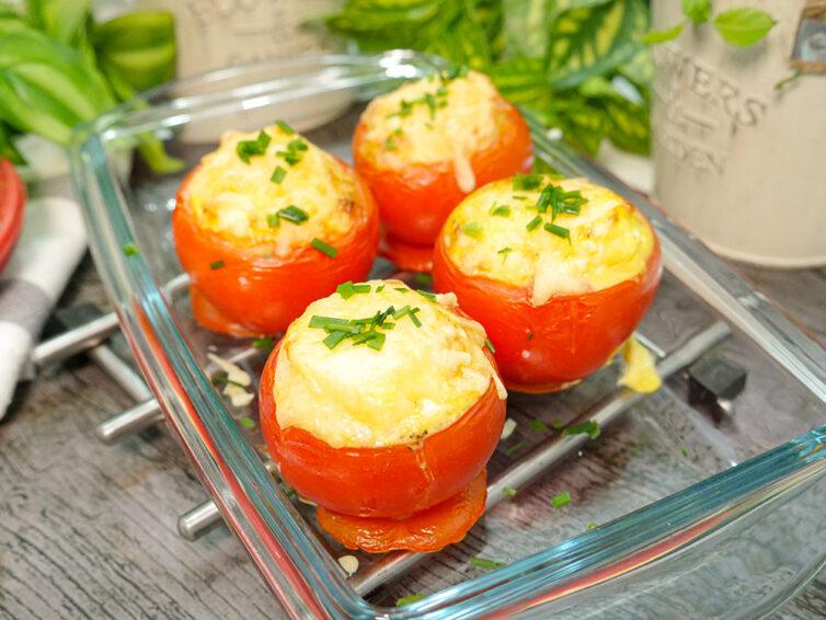 Pomidory zapiekane pod serową pierzynką