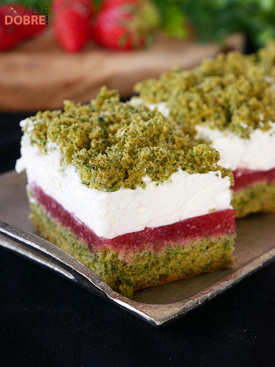 przepis na ciasto szpinakowo-truskawkowe