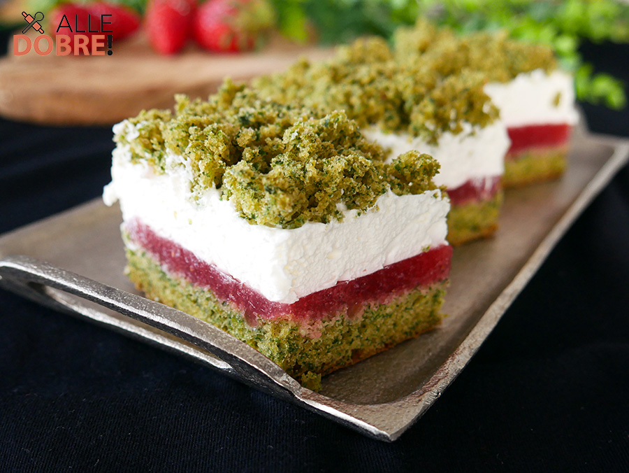 ciasto szpinakowo-truskawkowe przepis